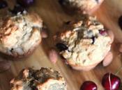 Vegan Cherry Almond Muffins (with FRESH Cherries!)