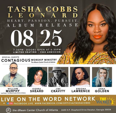 Tasha Cobbs Leonard Album Release Concert Will Air LIVE On The Word Network