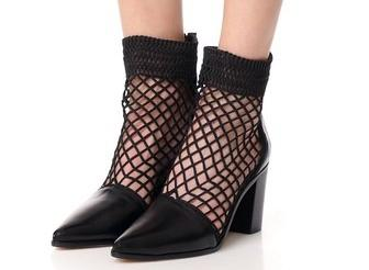 Shoe of the Day | Schutz Rosmari Fishnet Booties