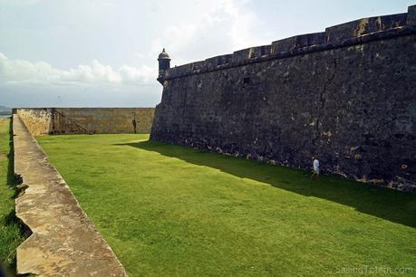 Niall offers scale for the fort's walls