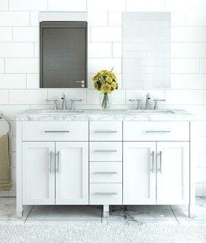 white bathroom vanities make your bathroom look clean and bright