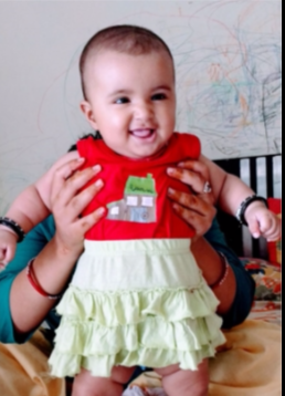 "Hi, Everyone Vote for ""Ira Acharya"" as cutest baby."