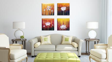 Lotus paintings by Cedar Lee