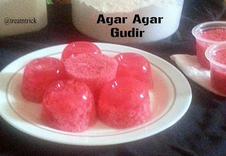 Agar Agar Gudir Recipe @ treatntrick.blogspot.com