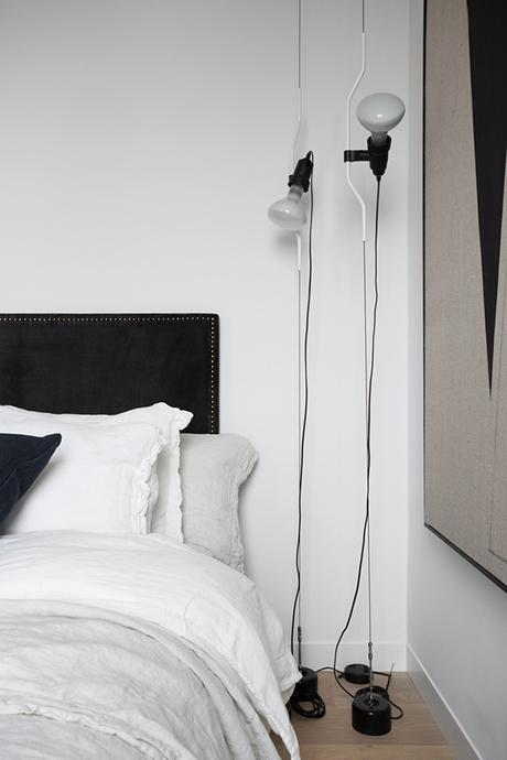The Parentesi Lamp used as a bedside lighting in the bedroom   Residence Magazine