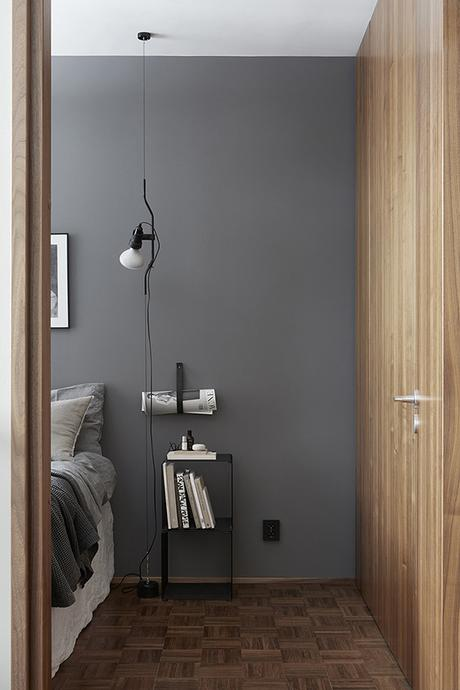 The Parentesi Lamp used as a bedside lighting in the bedroom   Per Jansson