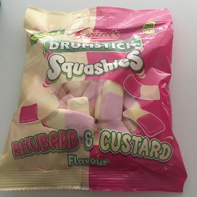 Today's Review: Drumstick Squashies Rhubarb & Custard