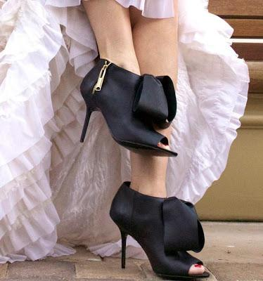 Shoe of the Day | Aminah Abdul-Jillil Peep Toe Ankle Booties