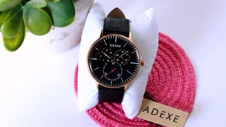 Handcrafted Luxury Black Adexe Watch