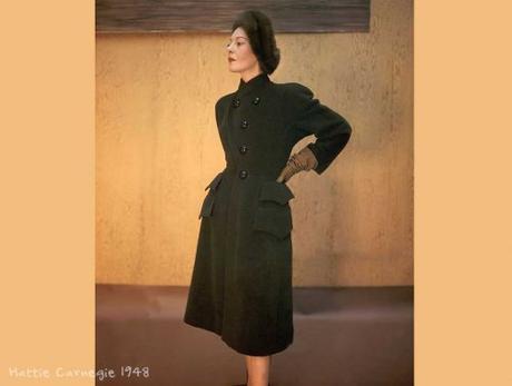 Hattie Carnegie Coat- circa 1948 - Photo John Rawlings