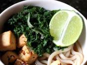 Roasted Chilli Lime Tofu Kale with Udon Noodles {Vegan}