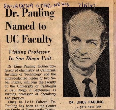 Pauling at UC-San Diego