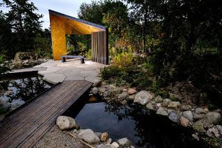 A tree-mendous [groan], award-winning garden that mimics the Canadian wilderness has opened at the WWT centre in Lancashire.