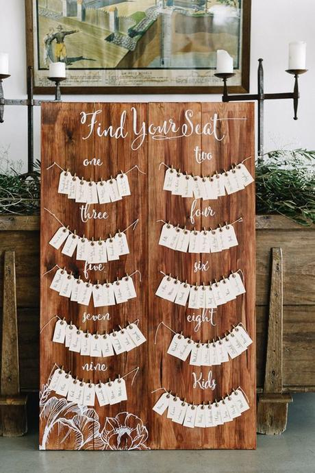 10 Unique (+ Mostly Easy!) DIY Seating Chart Ideas For Your ...