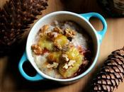 Organic Porridge with Cinnamon Spiced Roast Plum