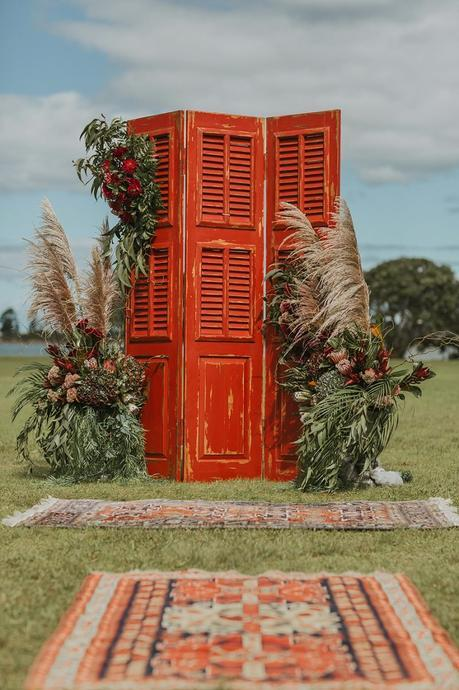 Bohemian Rustic Whangateau Wedding (with a $100 reception venue!)