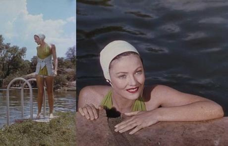 Gene Tierney - Leave her to heaven 1945-green-halterneck-swimsuit