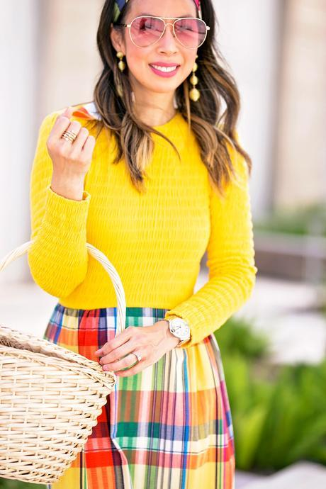 From Grandma with Love // Yellow Plaid Dress + Join Me at Polished Fort Worth