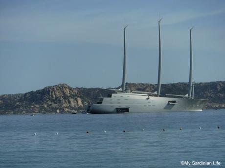 Super Yacht A and Serving her Owners Dinner by Jennifer Avventura