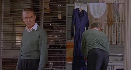 Jimmy Stewart's Green Sweater in Vertigo