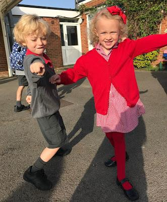 Milestone Moment - The Twins Start School