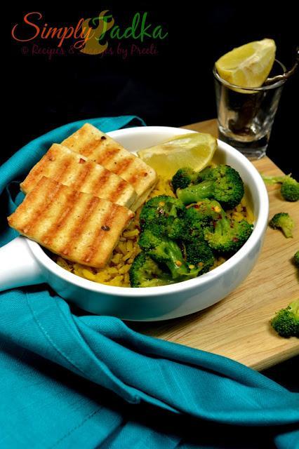 Grilled Tofu with Turmeric Brown Rice