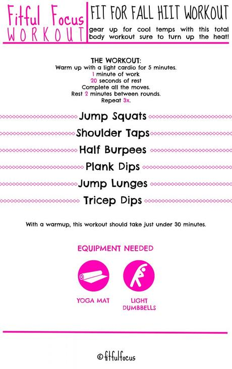 Fit For Fall HIIT Workout