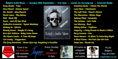 Ralph's Indie Show - as played on Radio KC - 10.9.17