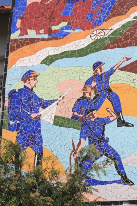 DAILY PHOTO: Mosaics at the INA Museum, Moirang