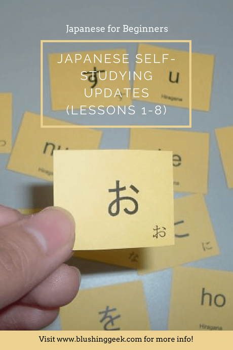 Japanese Self-Studying Updates (Lessons 1-8)