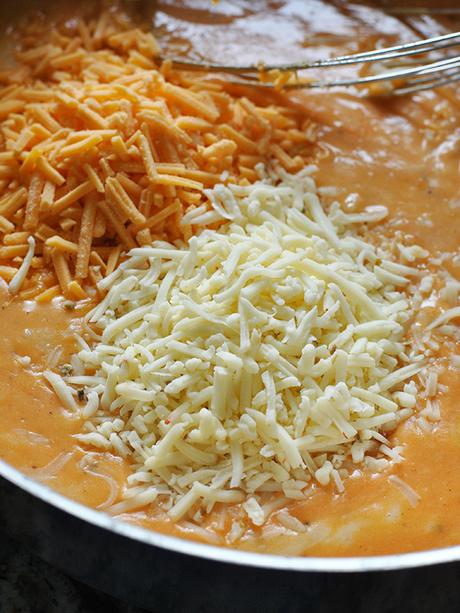 homemade queso dip