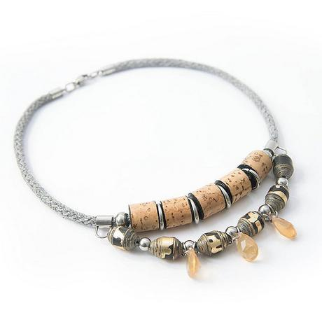 Paper Bead Necklace by S.Chick