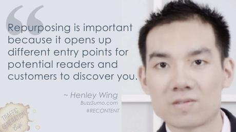 content repurposing by Henley Wing