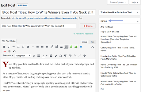 How to write blog post titles for your blog post
