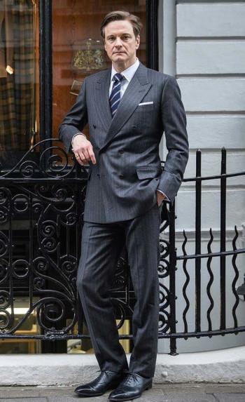 Kingsman: The Secret Service – Harry's Charcoal Striped Suit