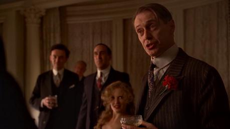 Nucky Thompson's Charcoal Striped Credits Suit