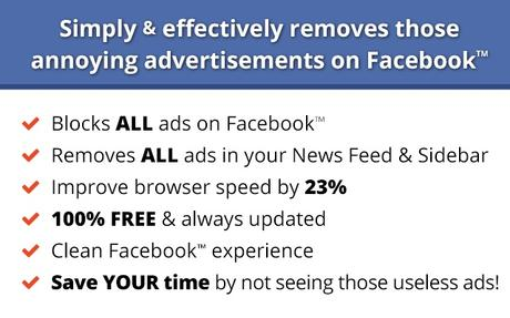 Ads blocker for facebook