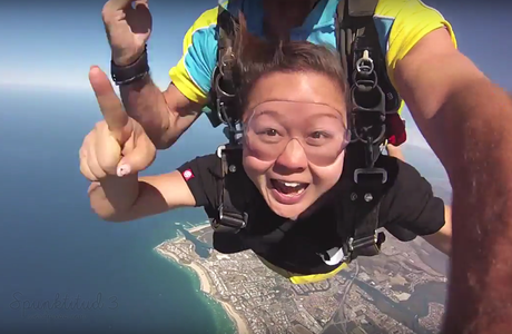 Skydiving in Gold Coast