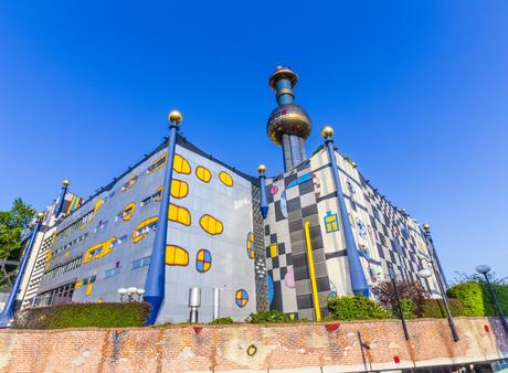 80. The Spittelau District Heating Plant in Vienna is beamed directly from the wacky mind of esteemed artist and architect Hundertwasser.