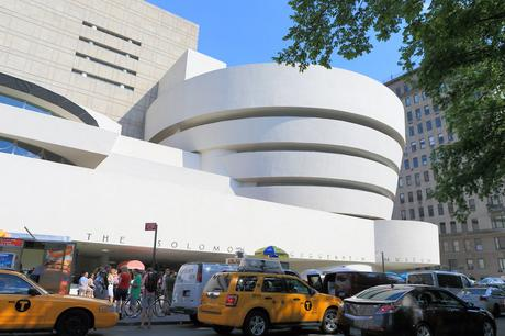 41. The cylindrical shape of the iconic Solomon R. Guggenheim Museum, designed by Frank Lloyd Wright, certainly makes an impression in New York City's Upper East Side.