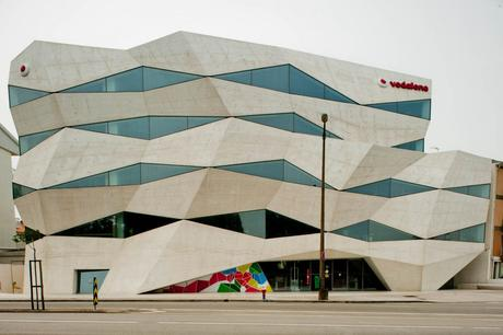 99. The bizarre-looking Vodafone Headquarters in Portugal shrugs off the conventional straight lines you might expect from a corporate entity.