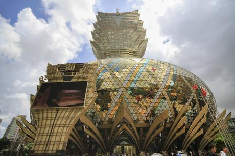 95. The Grand Lisboa in Macau, China is one of many casino hotels in the region, but no other gambling hall is nearly as flashy.