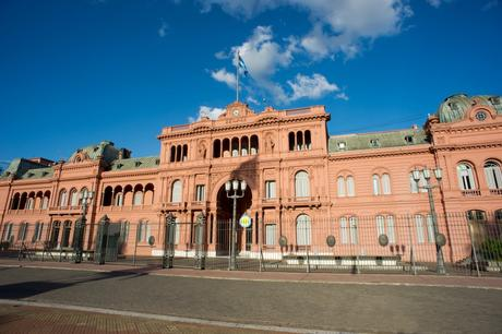 93. Argentina's top government building, the Casa Rosada, in Buenos Aires, is reportedly painted pink to soothe tensions between the country's opposing political parties: the red of the Federales, mixed with the white of the Unitarians.