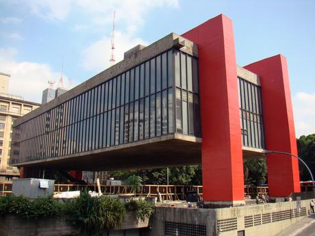 66. Supported by two bright red columns on each side, the São Paulo Museum of Art in Brazil looks almost like it's floating in mid-air. It's one of the city's coolest buildings.