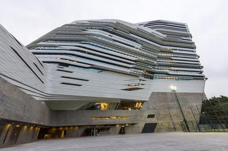 28. The curved, multiple levels of Zaha Hadid's Innovation Tower, where the Hong Kong Polytechnic University's design school is based, make the building look like it's moving.