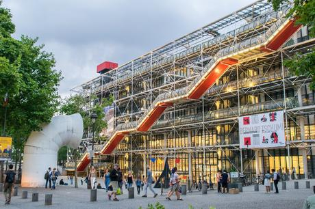 47. The Pompidou Centre in Paris, designed by Richard Rogers and Renzo Piano, contains a modern art museum, a music centre, and a well-stocked public library.