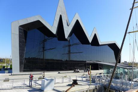 6. The 118-foot-tall zinc roof on the glass-fronted Riverside Museum, designed by Zaha Hadid, makes a startling impression on the shore of the Clyde River in Glasgow.