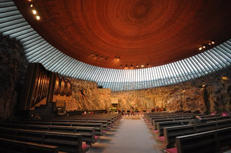 8. Temppeliaukio Church in the Finnish capital of Helsinki was built into a rock by architect brothers Timo and Tuomo Suomalainen before opening in 1969.