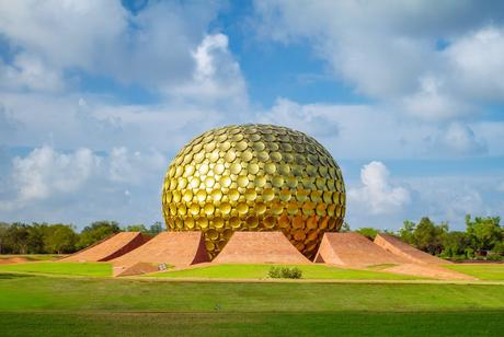 52. The Matrimandir in Pondicherry, India, is a place for quiet reflection.