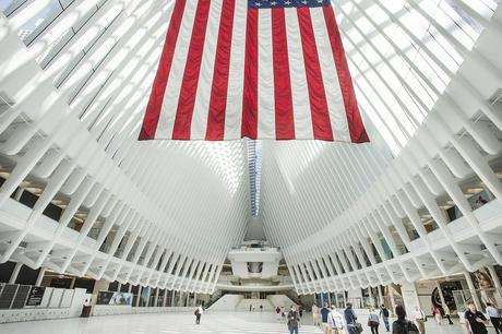 53. Look up inside New York City's new World Trade Center PATH station for a phenomenal view of the steel and concrete structure created by architect Santiago Calatrava.